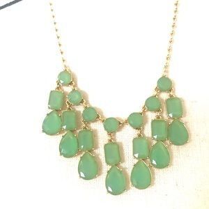 Kate Spade Green Stone Statement Necklace
